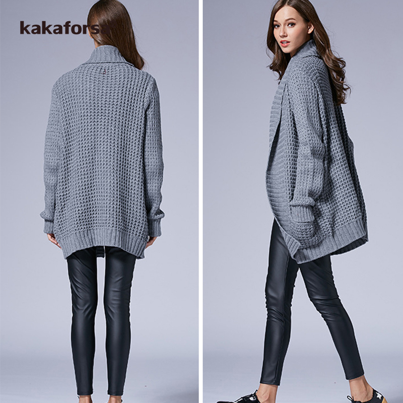 Kakaforsa Knitted Long Cardigan Fashion Female Soft Warm Plus Size ...