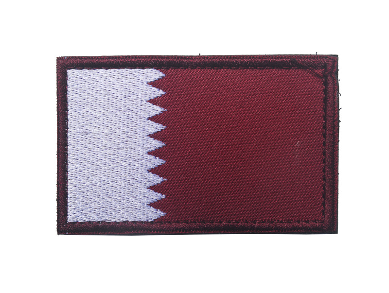 5pcs lot Asian flag Qatar Patches 3D stickers Personality Embroidery badges Patch for clothes clothing in Patches from Home Garden