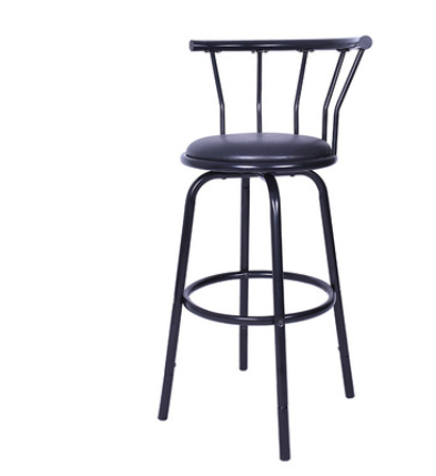 H 75cm Etro Iron Retro Bar Chair Top Dining Chair Swivel Bar Chair With Backrest And Leather Seat Bar Furniture