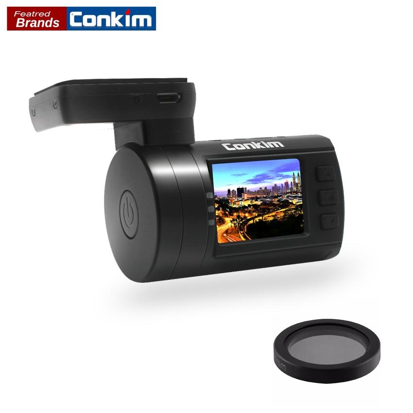 Conkim Car DVR Mini 0806s Dash Cam Camera Recorder Ambarella A7LA50 Super 1296P With GPS Auto Registrar CPL Filter Auto Camera