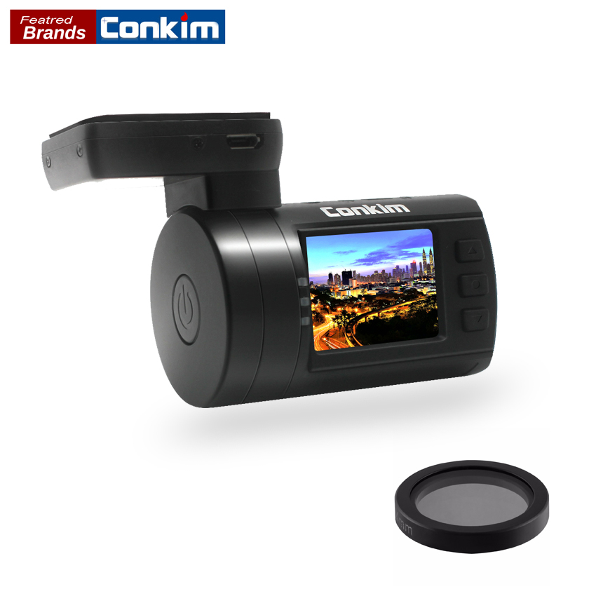 Conkim Voiture DVR Mini 0806 s Dash Cam Caméra Enregistreur Ambarella A7LA50 Super 1296 P Avec GPS Auto Greffier CPL Filtre Auto caméra