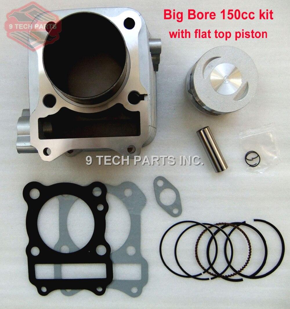 GS125 GN125 EN125 GZ125 DR125 TU125 Kit de Piston de cylindre à gros alésage 150cc 62mm alésage pour moteurs 157FMI K157FMI