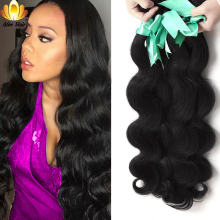 Aliafee Hair Brazil Wave Body 4 Bundles Deal Hair Brazil Menenun 100% Extension Hair Man 8 '' - 28 inci Hair Non Remy