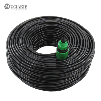 10/20/25/40 Meter 4/7mm Garden Water Hose with Quick Connector Micro Drip Misting Irrigation Tubing Pipe PVC Hose 1/4'' New Hose 1