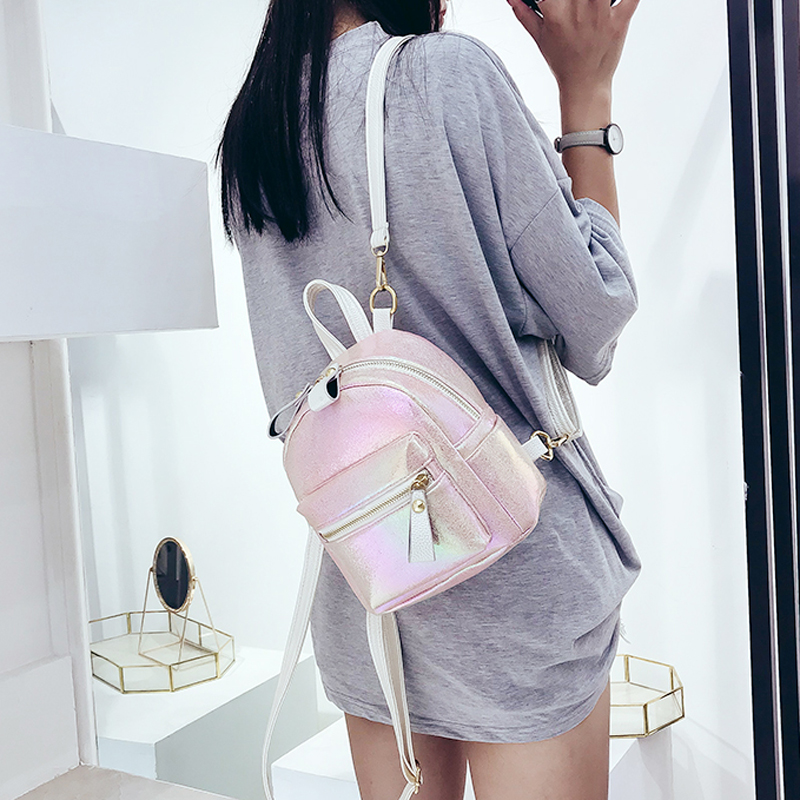 Women Mini Backpack Fashion Leather Backpacks For Teenagers Girl Small Female School Backpack Cute Shoulder Bag Bagpack Mochila