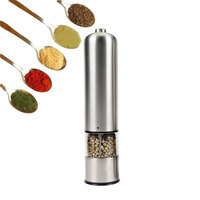 Sale Stainless Steel Electric Salt Pepper Mill Spice Grinder Kitchen Tools