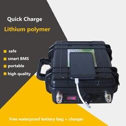 Batteries d'usb de lipo de polymère de lithium du Drain 12V 60AH-200AH élevé pour le moteur de bateau d'inverseur/source d'énergie de secours de panneau d'énergie solaire