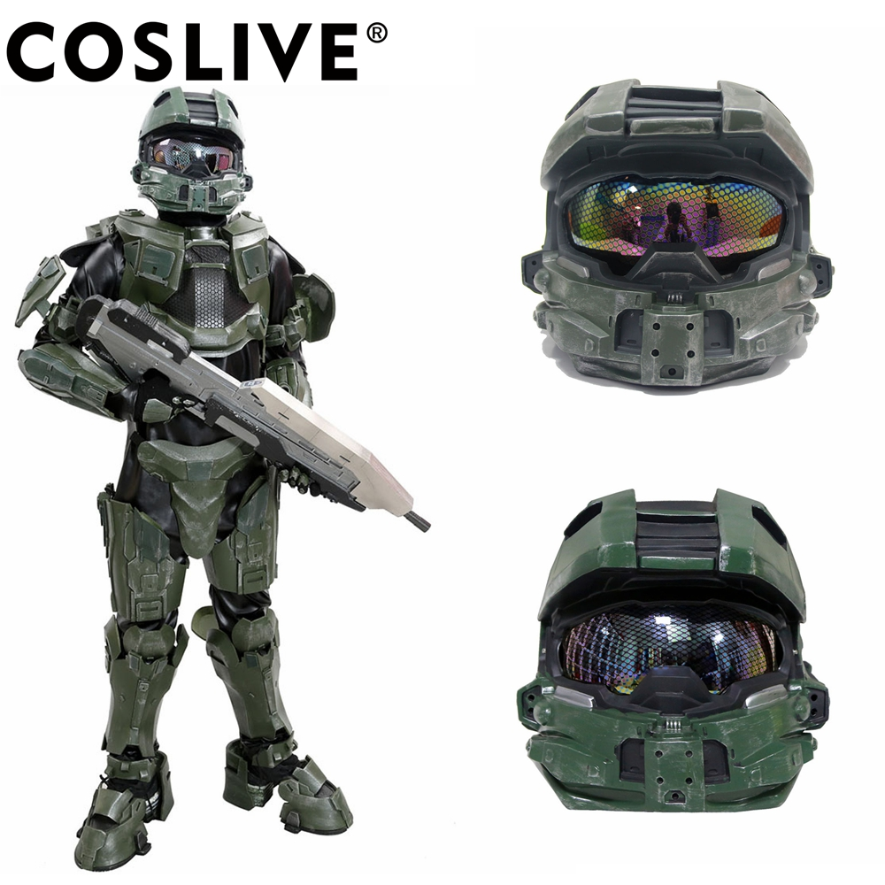 Coslive Halo 4 Helmet COSplay Costume Prop Replica Full Head PVC Mask Game Equipment Master Chief Accessories-in Costume Accessories from Novelty u0026 Special ...  sc 1 st  AliExpress.com & Coslive Halo 4 Helmet COSplay Costume Prop Replica Full Head PVC ...
