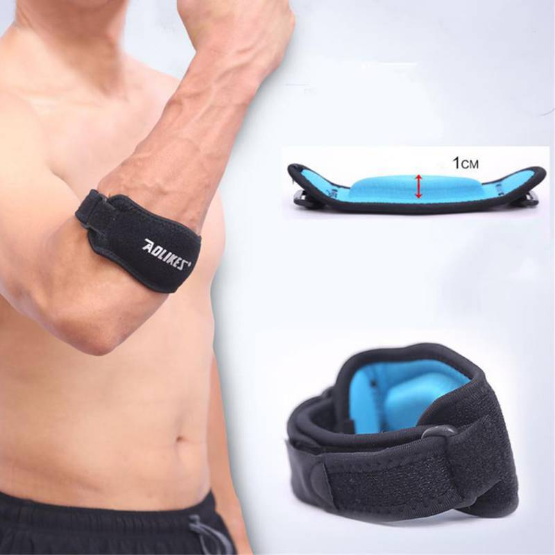 1Pc Safety Adjustable Elbow Pad Sports Protection Tennis Badminton Hockey Fitness Muscle Pressurized Sport Safety Elbow Pads smith safety gear leopard elbow pads