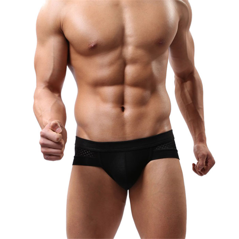 Mens Sexy Cotton Underwear shorts men underpants Soft Briefs in Gray Black White Colour Plus Size HIgh Quality Fashion