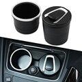 1 шт. автомобильная светодиодная пепельница сисветильник ка сигарета дым Пепельница держатель цилиндра с крышкой для BMW Kia Suzuki Audi Toyota