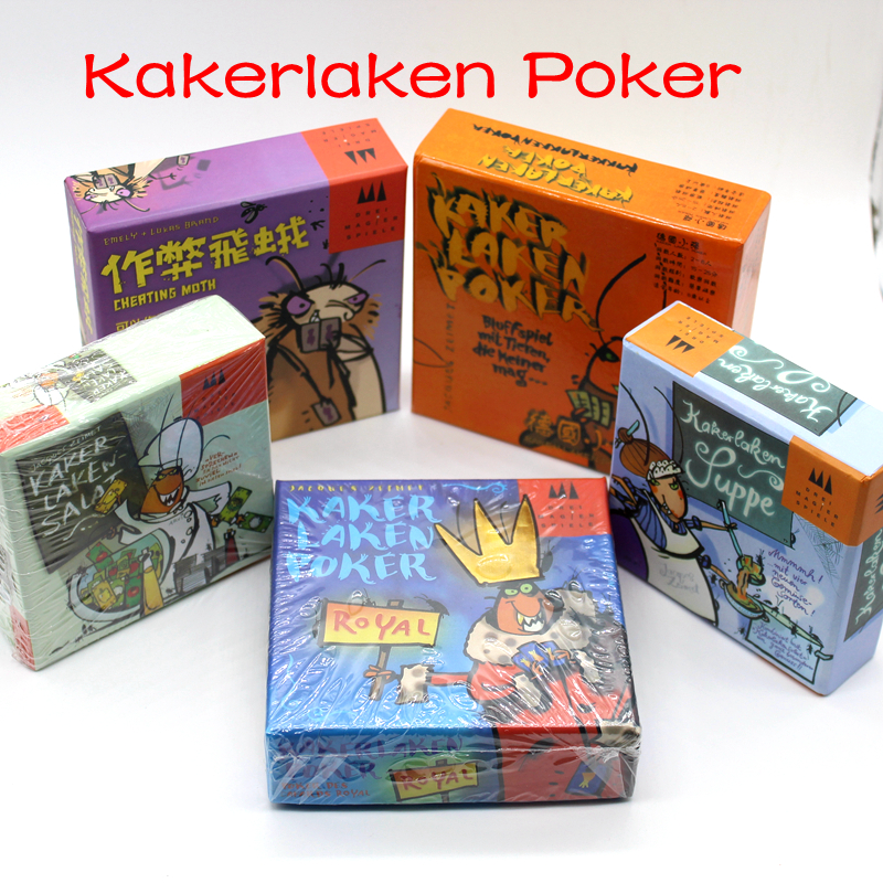 5 Options Kakerlaken Poker Cockroach Card Game Kakerlakensalat Supper Cheating Mouth Royal  Funny Indoor Game For Family Party