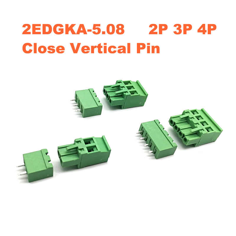 KF2EDG Terminal Block Male /& Female 3.81mm Pitch Screw PCB Connector 2//3//4//5~16P