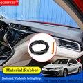 QCBXYYXH авто-Стайлинг резиновые анти-звуконепроницаемые не пропускающие шума пылезащитные приборной панели автомобиля Лобовое стекло уплотн...