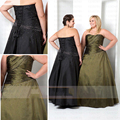 2017 Strapless Beaded Long Plus Size Bridesmaid Dresses Elegant Wedding Party Dress For Women Vestidos De Festa Longo