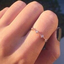 ZHOUYANG нежные кольца для женщин, 4 мини-светильник с кубическим цирконием, цвета: желтый, розовый, серебристый, тонкое кольцо, модное ювелирное изделие KAR306