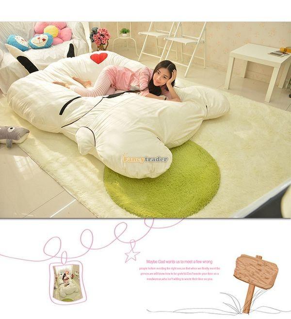 Fancytrader 270cm X 160cm Giant Soft Plush Stuffed Double Size Rabbit Bunny Mattress Carpet Tatami Bed, FT50680 (7)