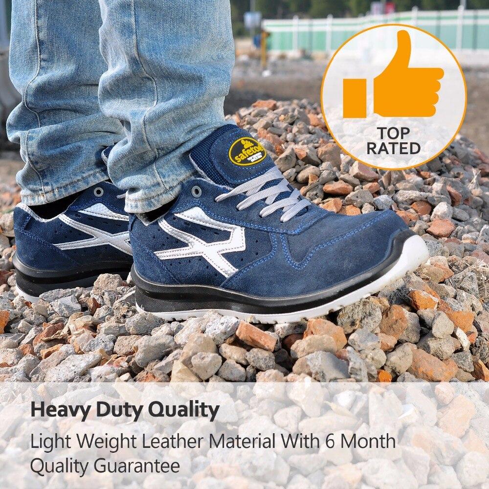 Safetoe Wide S1P zapatos de seguridad de trabajo con puntera de acero compuesto, cómodas botas de trabajo de seguridad transpirables ligeras para hombres y mujeres - 6