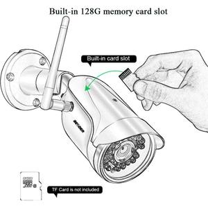 Image 3 - BESDER kablosuz açık güvenlik kamera 1080P 960P 720P IR gece görüş hareket algılama ONVIF Bullet IP kamera wiFi + SD kart yuvası