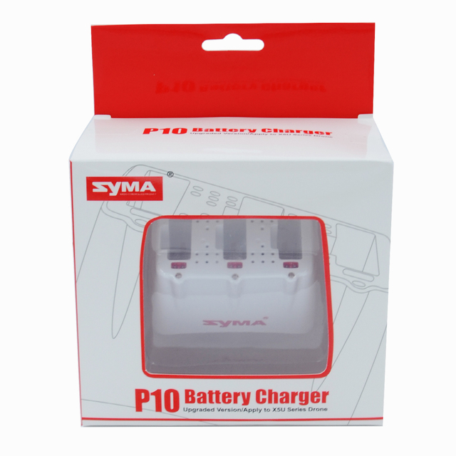 Original P10 SYMA X5UC X5UW Drone Spare Parts 3.7V 500mAh Battery+Charger Cradle Charging Dock Base RC Quadcopter