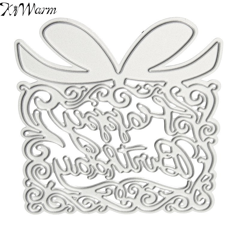 Gift Box Design Metal Cutting Dies Stencils Template Bookmark for Scrapbooking Card Album Painting Embossing DIY Metal Crafts