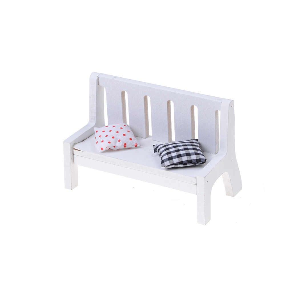 인형 집 소파 벤치 의자 라운지 인형 거실 침실 정원 어린이 가구 장난감 액세서리