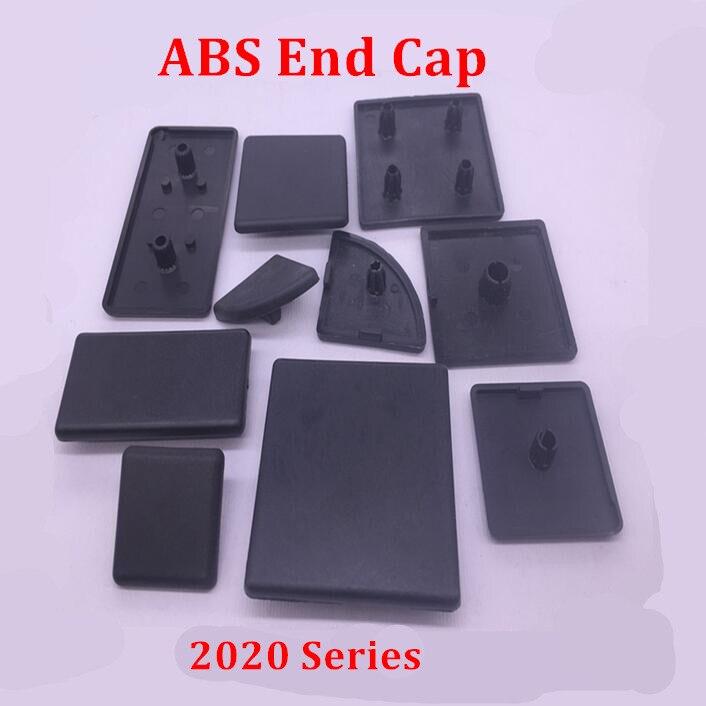 Наконечник из черного АБС-пластика 2020, 50 шт., наконечник с алюминиевой крышкой европейского стандарта, наконечник с одним отверстием для алю...