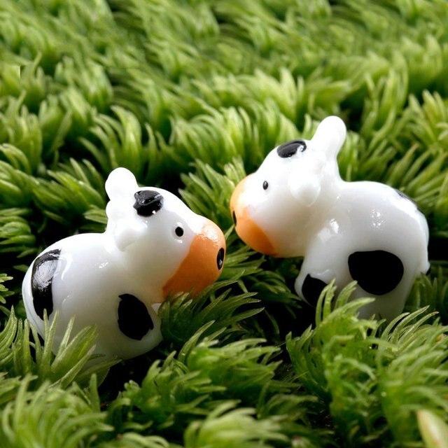 Aliexpress.com: Acheter 2 pcs mini Artificielle vache animal ...