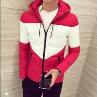 Male Hooded Winter Cotton Padded Clothes To Keep Warm Coat Handsome Young Fashion Short Thickening Jacket