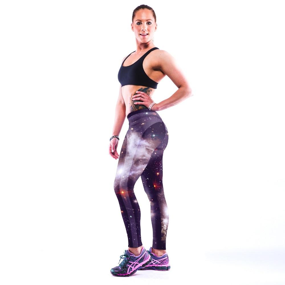 3D PRINT WOMEN LEGGINGS HIGH WAIST LEGGING GALAXY STYL   PRINTED WOMEN PANTS SLIM FITNESS LEGGINS