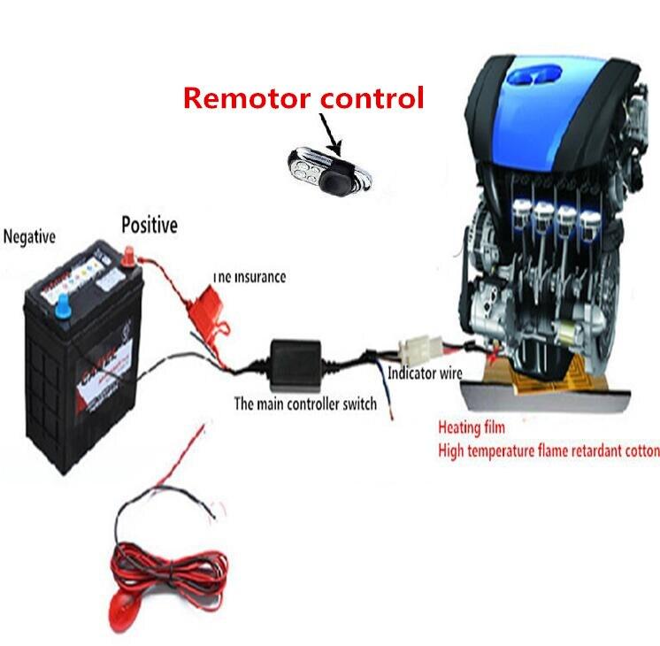 Premium chauffage ventilateur moteur préchauffage chauffage voiture Auto chauffage ventilateur pour chauffage à l'huile du moteur pour tout style de voiture 12 V universel