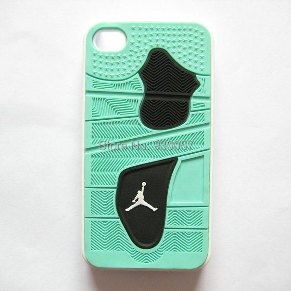 watch ae73a ab729 US $4.99 |3D PVC Rubber Jordan Case for iphone 4 4s Shoe Sole Bottom 3D  Jordan IV Green glow Case for iphone 4 4s on Aliexpress.com | Alibaba Group