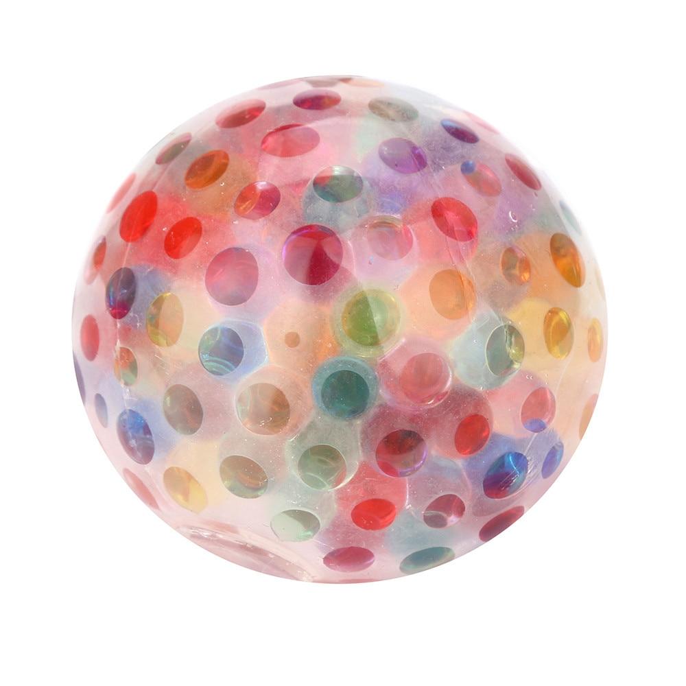 ISHOWTIENDA Spongy Rainbow Ball Toy Squeezable Stress Squishy Toy Stress Relief Ball For Fun Antistress slime anti stressToys#25 pa93 pu foam shrimp model squishy relieve stress toy
