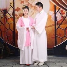 Niu Lang Zhi Nu Elegant Lovers Costume Swordlady Swordmen Performance Hanfu Thematic Photography for Couple
