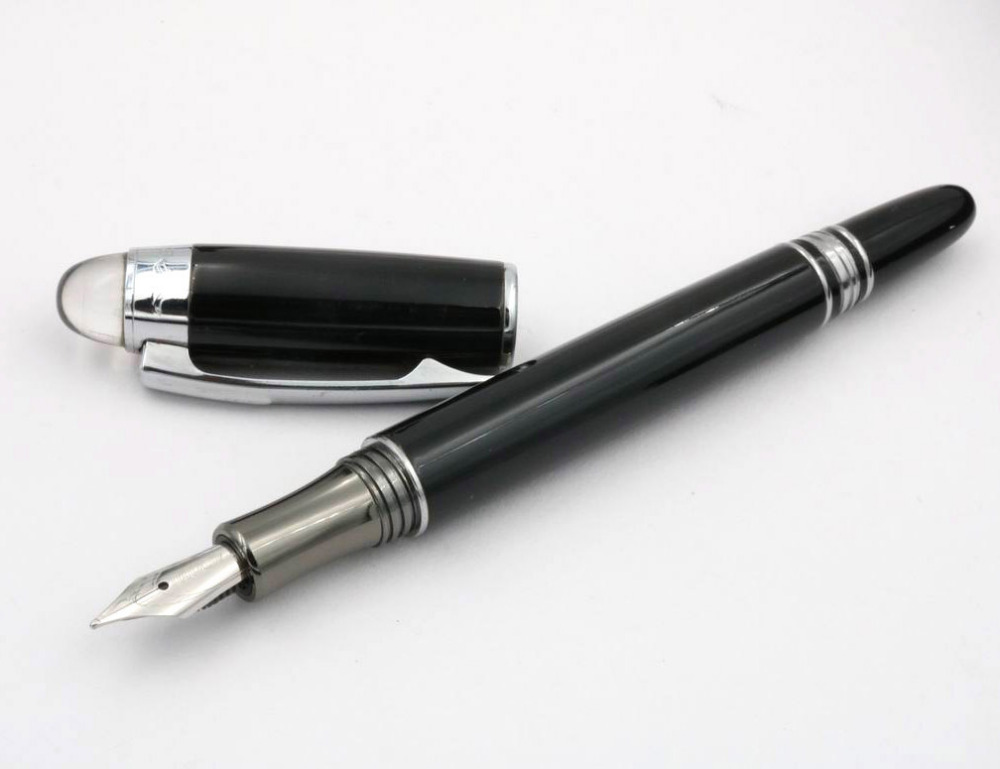 Baoer 79 Fountain Pen Black Line Barrel Medium Nib Stationery