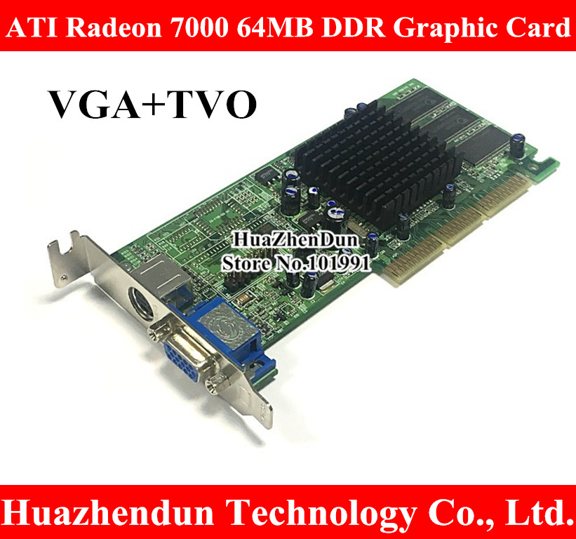 High Quality ATI Sapphire Radeon 7000 64M DDR 64MB AGP VGA Video Card With interface VGA+TVO original high quality genuine for mac pro edition ati radeon x1300 256mb pcie video card for macpro1 1 2 1 xserve