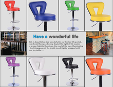 bar stool blue yellow color seat boss factory office computer chair PU leather seat free shipping