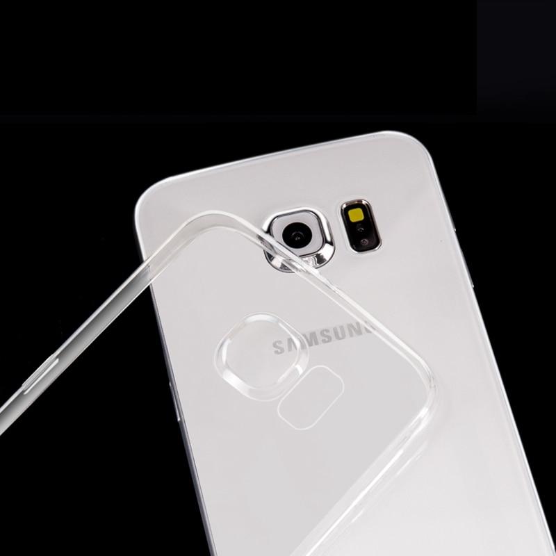 For Samsung Galaxy S7 Edge Soft Silicone Cover + Original View Capa S7 Edge Case Top Quality Ultra Thin Transparent TPU Case