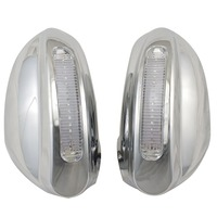 For Honda Fit Aria City 2003 2007 2PCS ABS Chrome plateddoor Rearview door mirror covers with Led