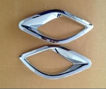 For Mazda Cx-5 Cx5 2012 2013 2014 2015 2016 Chrome Rear Bumper Reflector Fog Light Lamp Cover Trim Molding Garnish Frame Bezel
