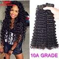 10A Malaysian Virgin Hair Malaysian Deep Wave 4 Bundles Lot  Malaysian Deep Curly Virgin Hair Human Hair Top Hair Bundles