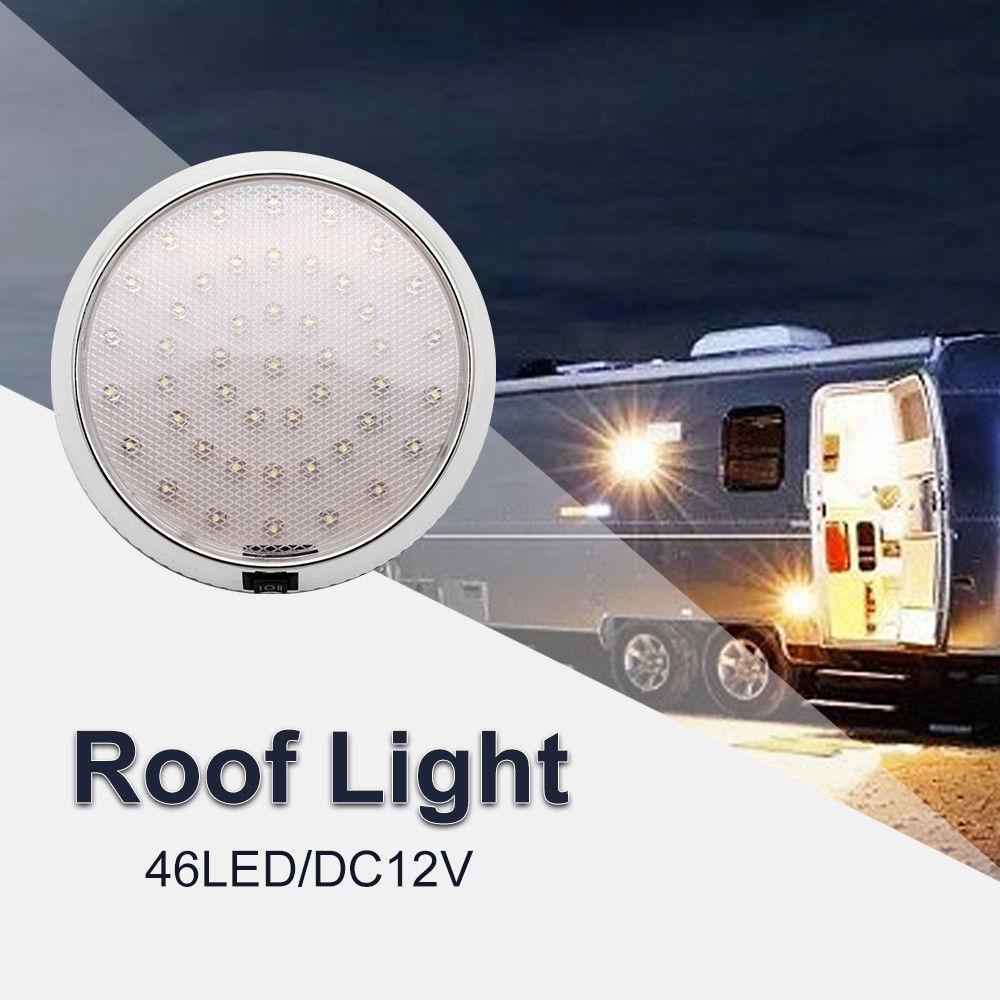 46 LED Ceiling Cabin Lights Roof Caravan Campervan Van Trailer Interior Lamp White Light