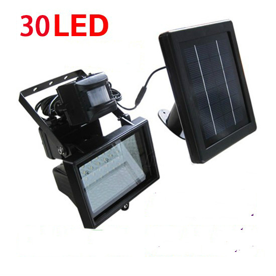 30 LED solar energy saving projection lamp body sensor light PIR anti-theft lights floodlight outdoor indoor solar lights