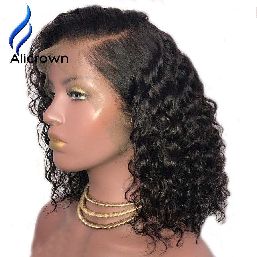 ALICROWN 13 * * * * * * * 6 ลึกลูกไม้ด้านหน้า Wigs ผมมนุษย์ผมบราซิล Remy สั้น Curly Lace ด้านหน้า bob วิกผม Pre Plucked-ใน วิกลูกไม้ผมจริง จาก การต่อผมและวิกผม บน AliExpress - 11.11_สิบเอ็ด สิบเอ็ดวันคนโสด 1