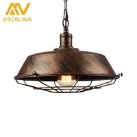 Led Lamp Loft Vintage Industrial Pendant Light For Restaurant Cafe Bar Home Especial Creative Lamp Chain
