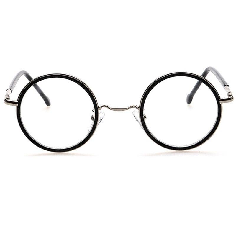 Pequeña ronda marco de Metal gafas círculo monturas lentes claras ...