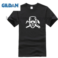 GILDAN Newest 2018 T Shirt Men Personality Tee Skull Crossbones Mash Up Awesome Funny Unisex Men