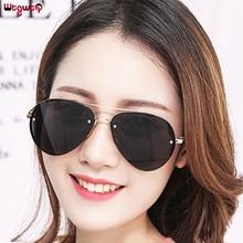 WtgwtQ Fashion Pilot Sunglasses For Women Mirror Metal Sun Glasses Brand Designer Sunglass Women Men Shades Top Eyewear