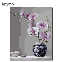 Kpymo оформлена картина маслом по номерам цветы фотографии холст для гостиная стены книги искусству домашний декор VA-0365