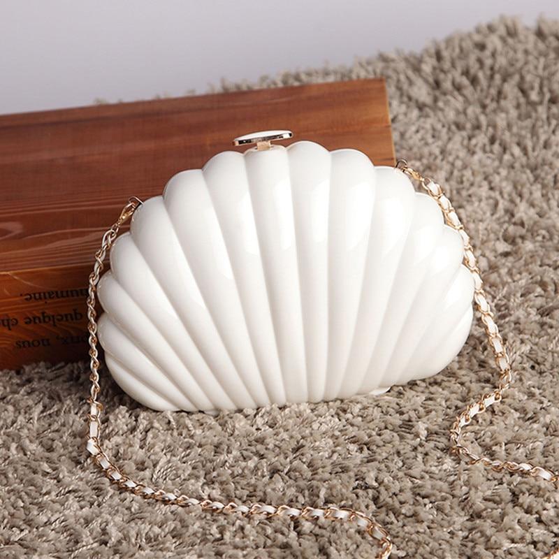 Women's Novelty Shell-shaped Handbags with Detachable Chain, Shoulder Bags globe shaped aluminum shell precise compass